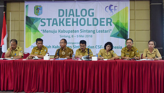 CSF Sintang Green Regency stakeholder dialogue