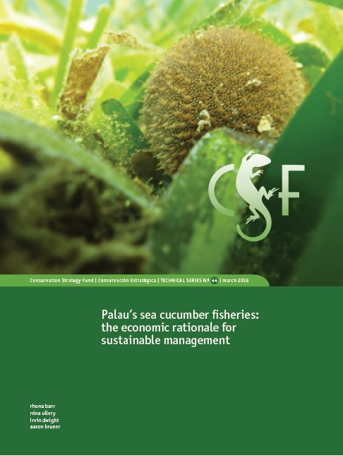 Palau's sea cucumber fisheries the economic rationale for sustainable management