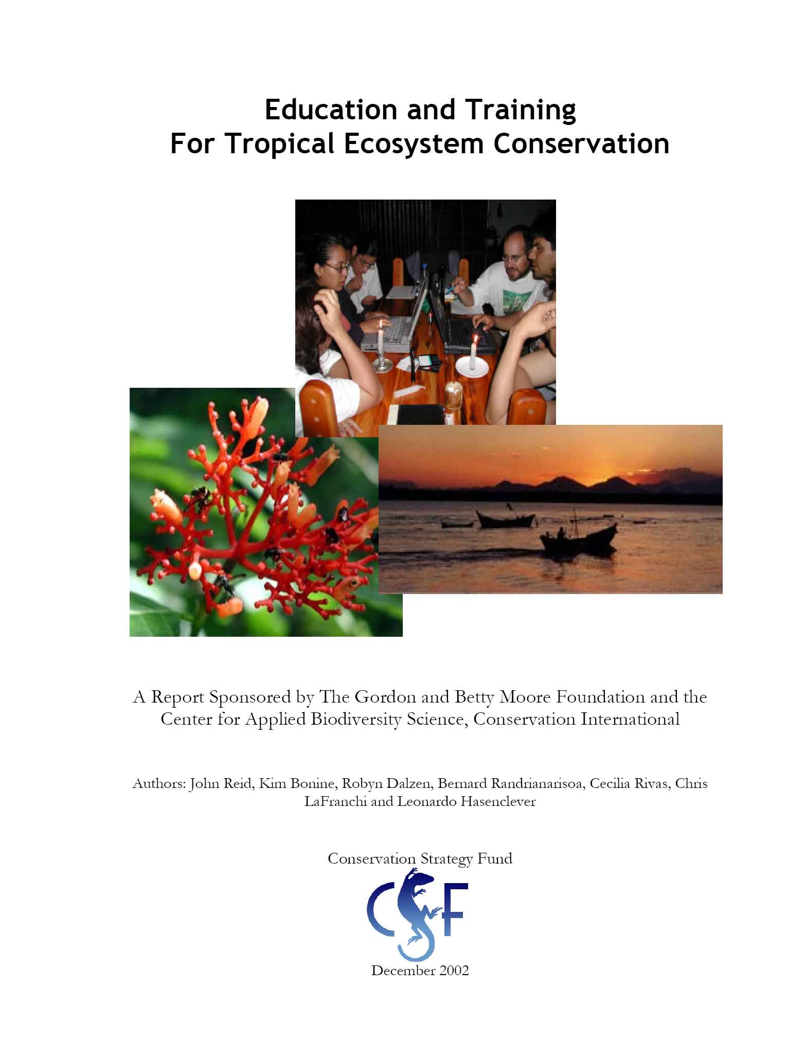 Education and Training For Tropical Ecosystem Conservation report cover