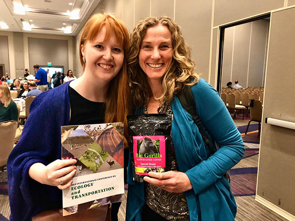 Sarah Chiles and Kim Bonine at the 2019 ICOET Conference
