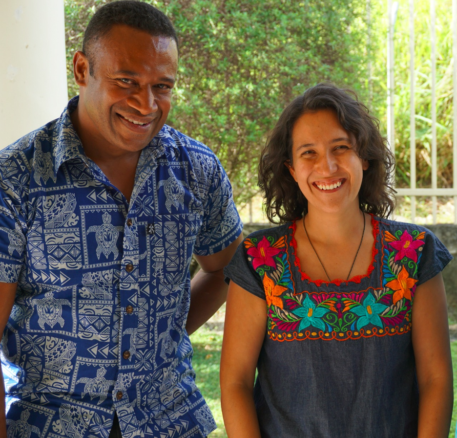 Obed Timakata, Fellow from Vanuatu and Natalia Sanin-Acevedo, Pacific Ocean Finance Fellowship Program Coordinator