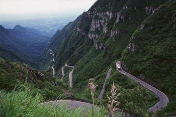 photo of Andes mountain road